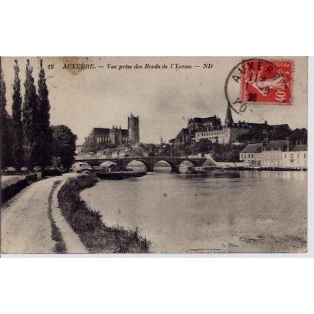 79 - Auxerre - Vue prise des bords de l'Yonne - Voyage - Dos divise