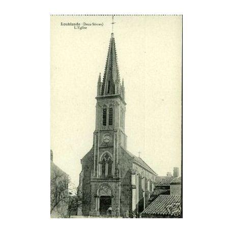 79 - LOUBLANDE - L'EGLISE - ANIMEE