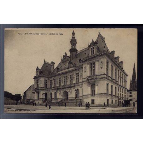 79 - Niort - Hotel de Ville - Non voyage - Dos divise