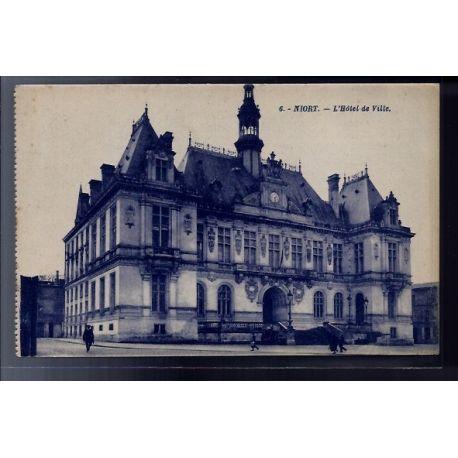 79 - Niort - l' Hotel de Ville - Voyage - Dos divise