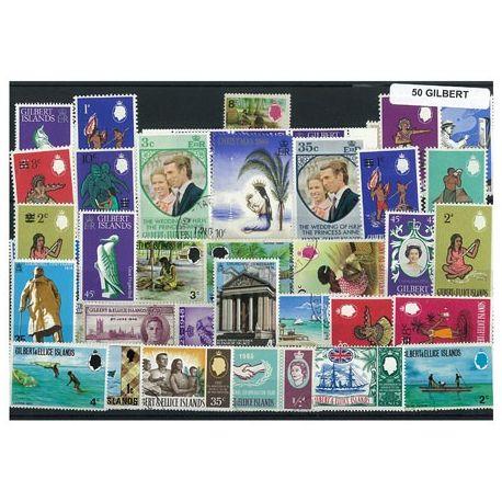 Gilbert - 25 verschiedene Briefmarken
