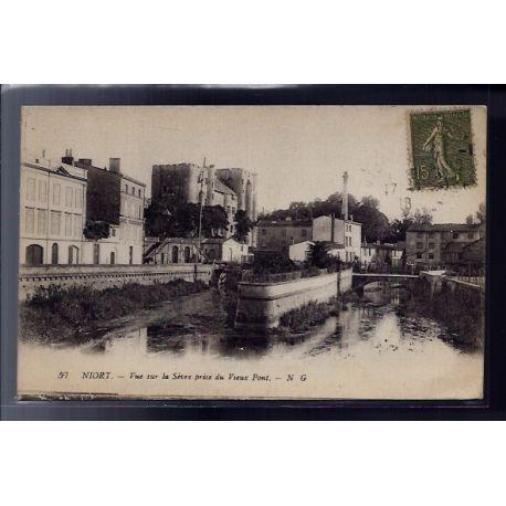 79 - Niort - Vue sur la Sevre prise du vieux Pont - Voyage - Dos divise