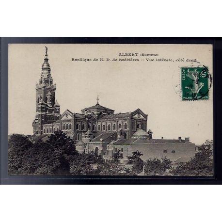 Carte postale 80 - Albert - Basilique de Notre-Dame de Brebieres - Vue laterale cote droi