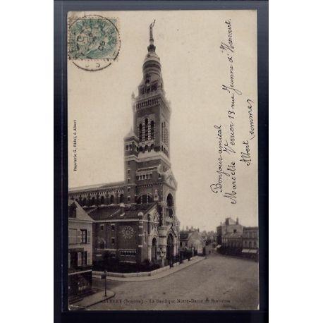 Carte postale 80 - Albert - La Basilique Notre-Dame de Brebieres - Voyage - Dos non divis