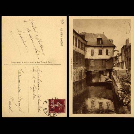 Carte postale 80 - Amiens - Le vieil Amiens - Canal