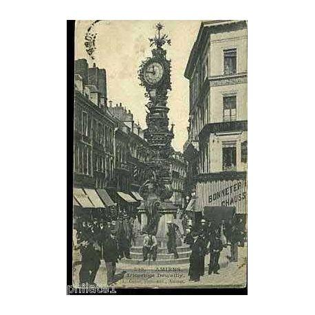 Carte postale 80 - Amiens - L'Horloge Dewailly - Animee