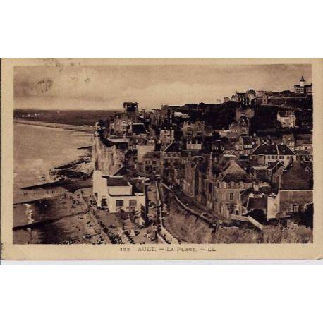 Carte postale 80 - Ault - La plage - Voyage - Dos divise