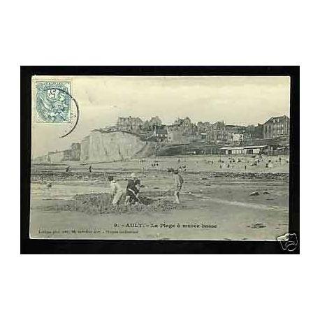 Carte postale 80 - Ault - La plage a maree basse