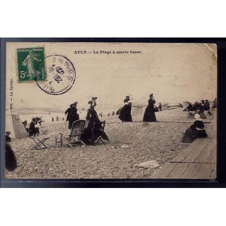 Carte postale 80 - Ault - la plage a maree basse - Voyage - Dos divise