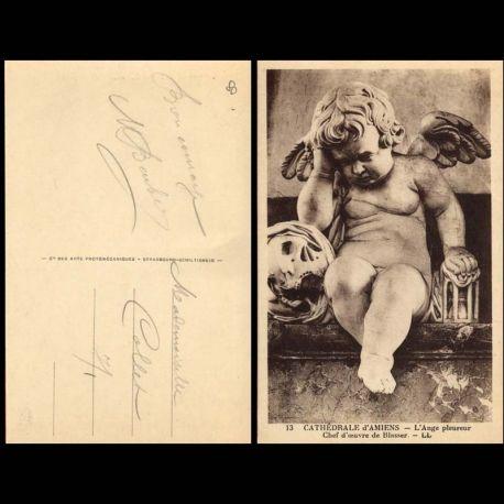 Carte postale 80 - Cathedrale d'Amiens - L'Ange pleureur