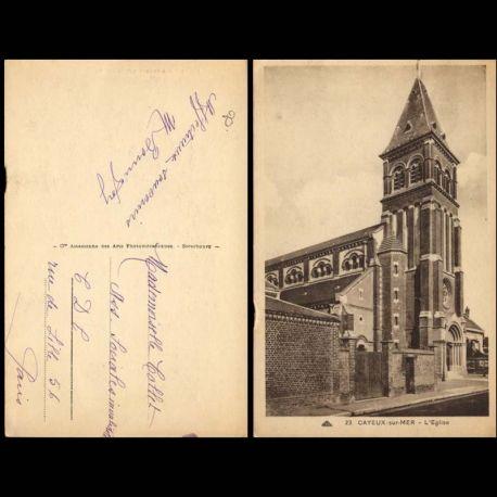 Carte postale 80 - Cayeux sur Mer - L'eglise