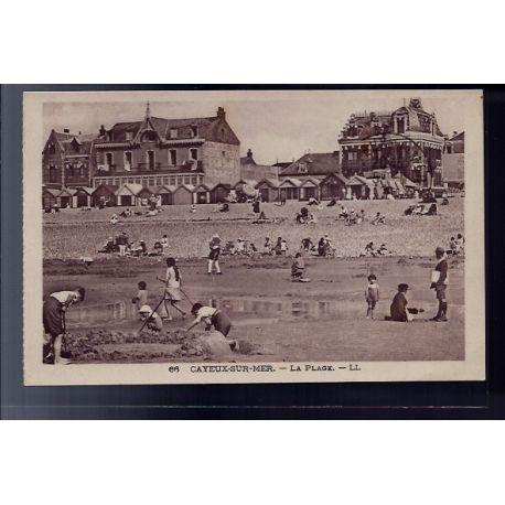 Carte postale 80 - Cayeux-sur-Mer - La plage - Voyage - Dos divise