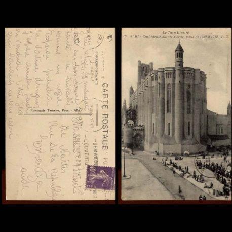 Carte postale 81 - Albi - Cathedrale Ste Cecile - Marche