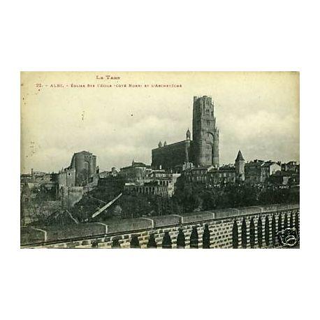 Carte postale 81 - Albi - Eglise Ste-Cecile et l'Archeveche