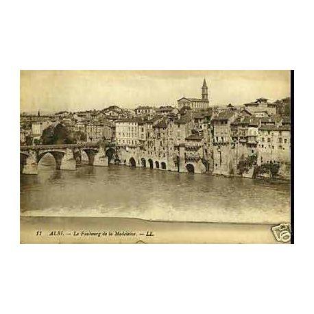 Carte postale 81 - Albi - Le faubourg de la Madeleine