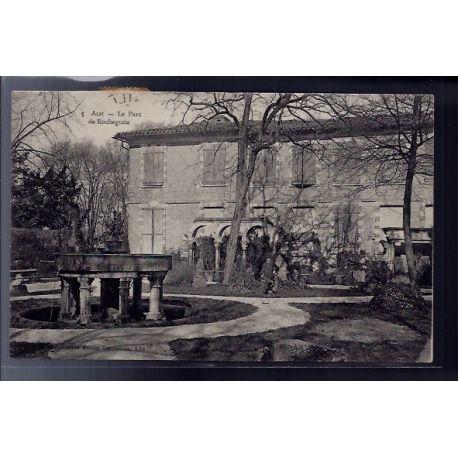 Carte postale 81 - Albi - Le parc de Rochegude - Voyage - Dos divise