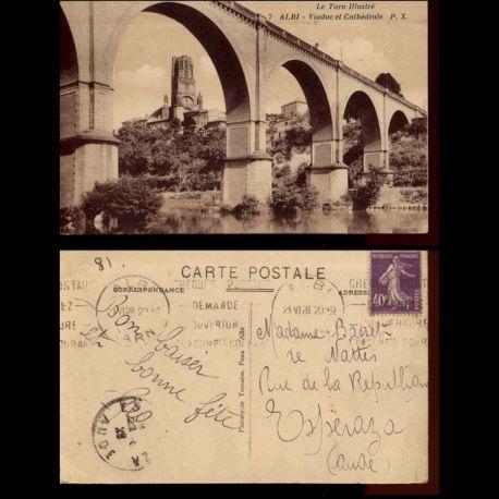 Carte postale 81 - Albi - Viaduc et cathedrale