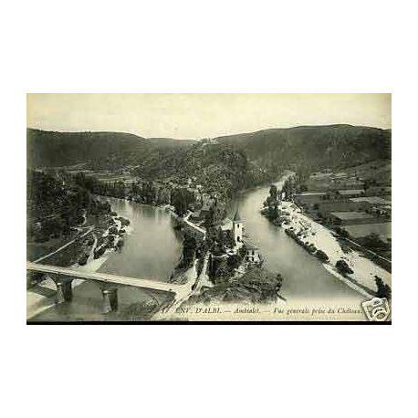 Carte postale 81 - Ambialet - Vue generale prise du chateau