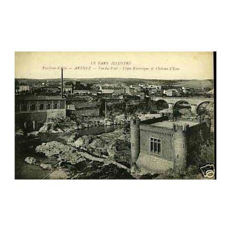 Carte postale 81 - Arthez - Usine electrique et chateau d'eau