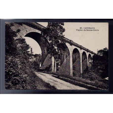 Carte postale 81 - Carmaux - Viaduc de Sainte-Cecile - Non voyage - Dos divise