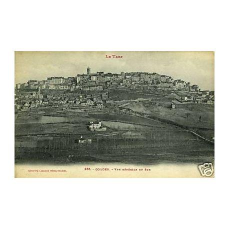 Carte postale 81 - Cordes - Vue generale du Sud