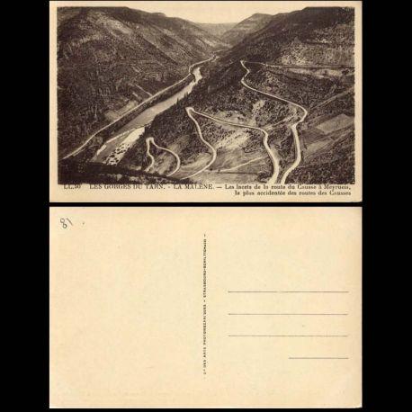 Carte postale 81 - Gorges du Tarn - La Malene - Route du Causse a Meyrueis