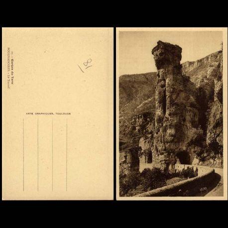 Carte postale 81 - Gorges du Tarn - Pougnadoires - Le tunnel