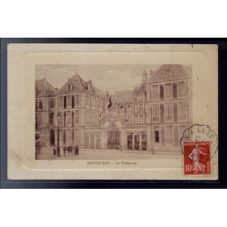 Carte postale 81 - Montauban - La Prefecture - Voyage - Dos divise