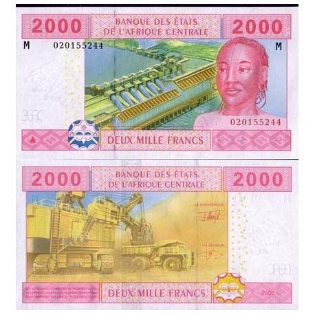 Afrique Centrale Centrafrique - Pk N° 308 - Billet de 2000 Francs