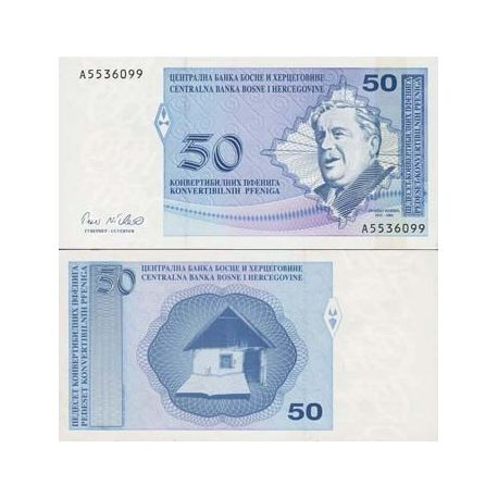 Billets de collection Billets banque Bosnie Pk N° 58 - 50 Dinara Billets de Bosnie 7,00 €