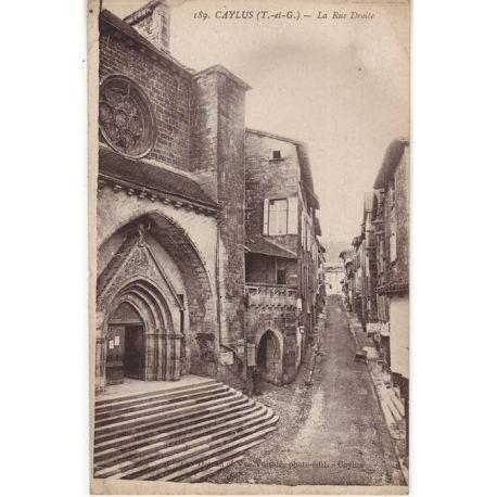 82 - Caylus - La rue droite