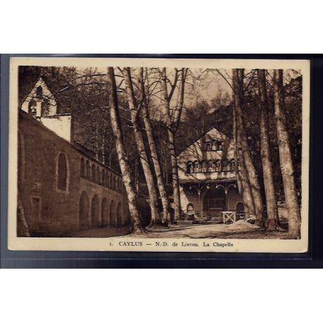 82 - Caylus - Notre-Dame de Livron - La chapelle - Voyage - Dos divise