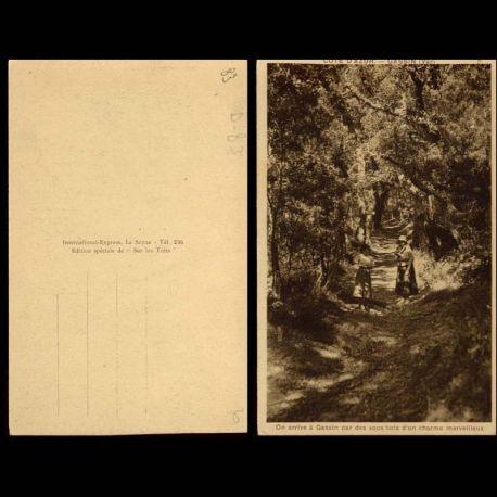 83 - Gassin - On arrive a Gassin par des sous bois....