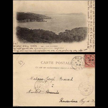 83 - Iles d'Hyeres - Carte des chemins de fer du sud de la France