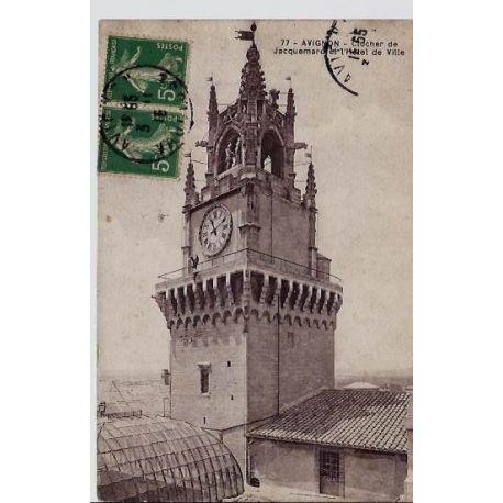 84 - Avignon - Clocher de Jacquemard et l'hotel de ville - Voyage - Dos divise