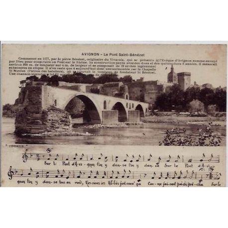 84 - Avignon - Le pont saint-Benezet - Non voyage - Dos divise