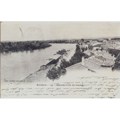 84 - Avignon - Perspective du Rhone