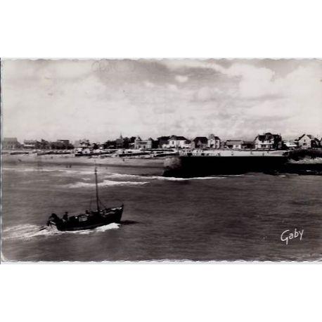 85 - Croix de vie - La jetee et la plage - Voyage - Dos divise