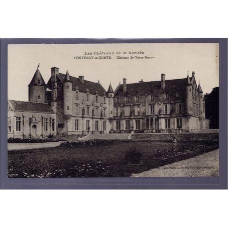 85 - Fontenay-le-Comte - chateau de Terre-Neuve - Non voyage - Dos divise