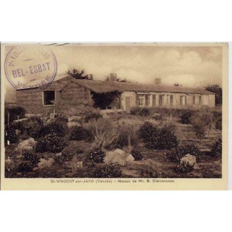 85 - Saint-Vincent-sur-Jard - Maison de Mr G.Clemenceau - Non voyage - Dos div