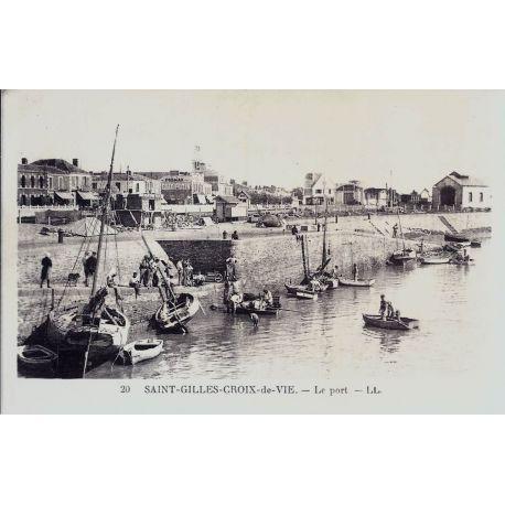 85 - St-Gilles-Croix-de-Vie - Le port - Animee