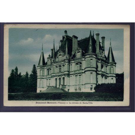86 - Bonneuil-Matours - le chateau de Marie-Ville - Non voyage - Dos divise