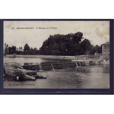 86 - Chatellerault - Le barrage sur la Vienne - Voyage - Dos divise