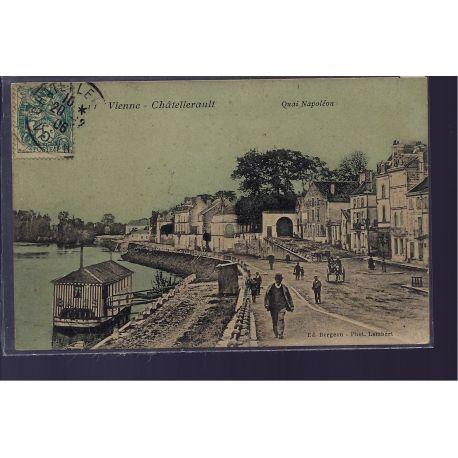 86 - Chatellerault - Quai Napoleon - Voyage - Dos divise