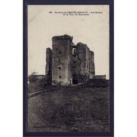86 - Environs de Chatellerault - les ruines de la tour de Beaumont - Voyage