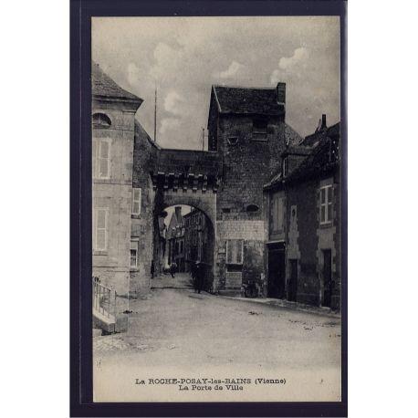 86 - La roche-Posay-les-Bains - La porte de Ville - Voyage - Dos divise