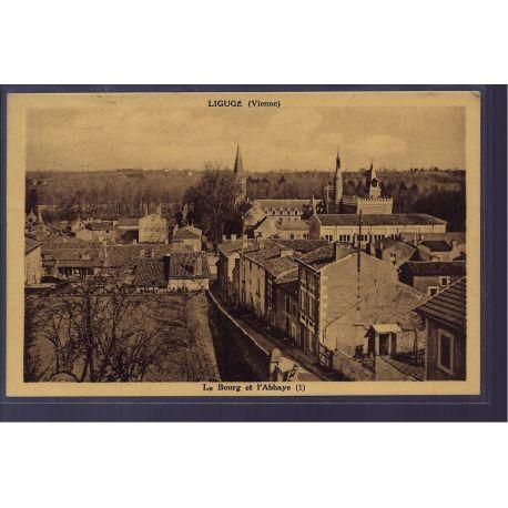 86 - Liguge - Le bourg et l' Abbaye - Voyage - Dos divise