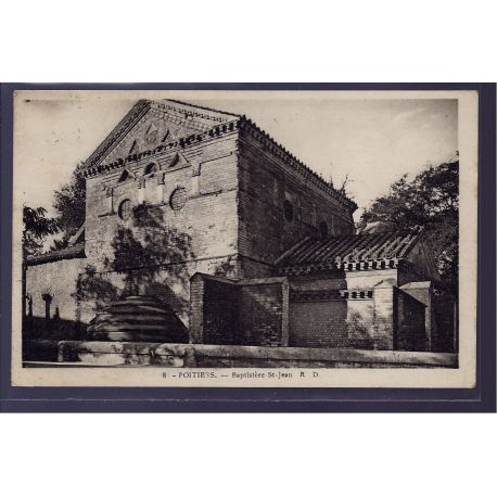86 - Poitiers - Baptistere St-Jean - Voyage - Dos divise