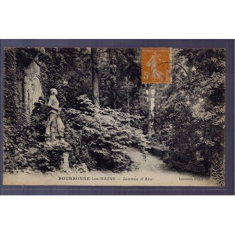 Carte postale 88 - Bourbonne-les-Bains - Jeanne d' Arc - Voyage - Dos divise