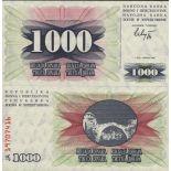 Billet de banque Bosnie Pk N° 15 - 1000 Dinara